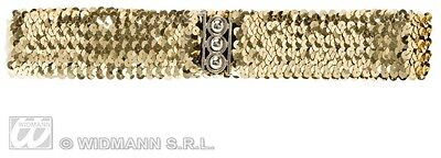 CINTURA ORO IN PAILLETTES Costume Widmann Accessori Gold Belt Donna 115 8164T