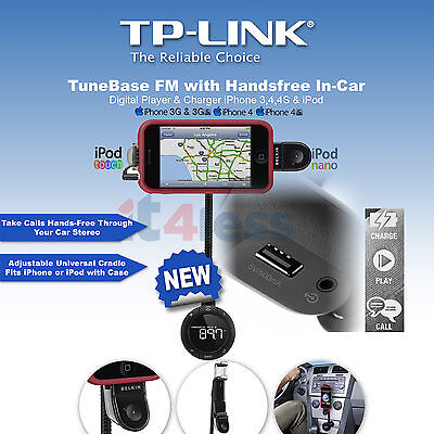 Belkin TuneBase FM with Handsfree In-car Digital Player & Charger iPhone 3,4,4S