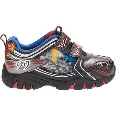 New Kids Toddler Boy's Light-up Skull Shoes Athletic Sneakers SZ 7 8 9 10 11