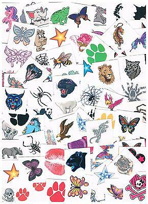 Bulk Kids , Adults Temporary Tattoos - Party Favours - lots of 100,150,200,250