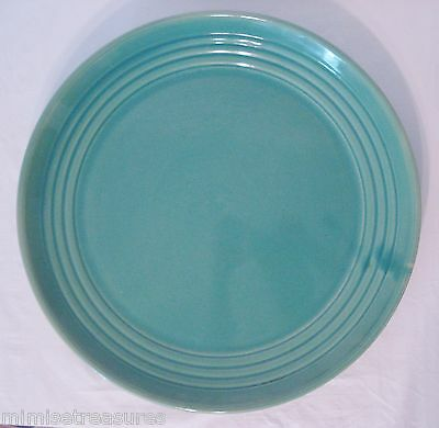 """Bauer Pottery 17"""" Charger Jade Green Round Platter"""