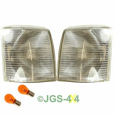Land Rover Range Rover P38 Clear Indicator Front Lamp Set - XBD100920 + 930