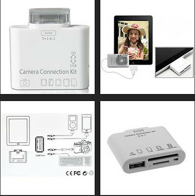 5+1 in 1 For iPad 2, The New iPad - Camera Connection Kit, Memory Card Reader
