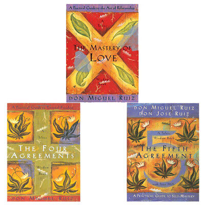 Don Miguel Ruiz Toltec Wisdom Series Collection,The Four Agreements,3 Books Set