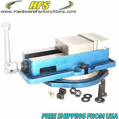 "New 6"" Milling Machine Lockdown Vise -Swiveling Base - Hardened Metal - CNC Vise"