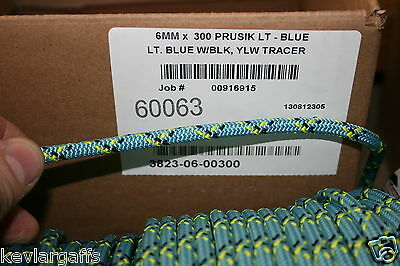 6mm X 50 FEET Teufelberger New England Prusik Cord rope Light Blue color