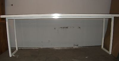"""Large 96""""x 24.25"""" Heavy Duty Lab Table, painted legs w/ perforated SS table top"""