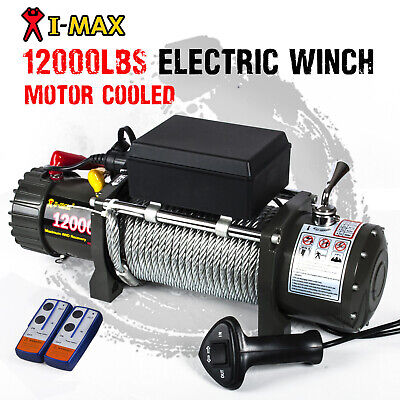 Cooled 12V Wireless Steel Cable 12000LBS/5443KGS Electric Winch ATV 4WD BOAT