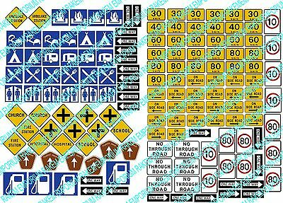 N Scale Camping Forest Road Signs, Aussie Traffic Signs,153 Signs - NTRS5