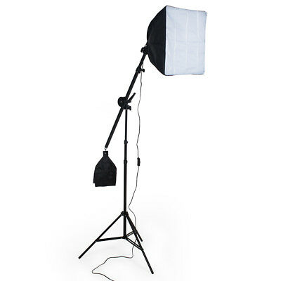 Continuous Video Studio Photography Lighting Kit Softbox Light Stand With Bulb