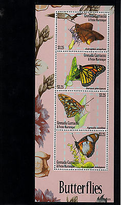 Grenada Grenadines 2013 MNH Butterflies I 4v M/S Insects Yellow-tipped Flasher