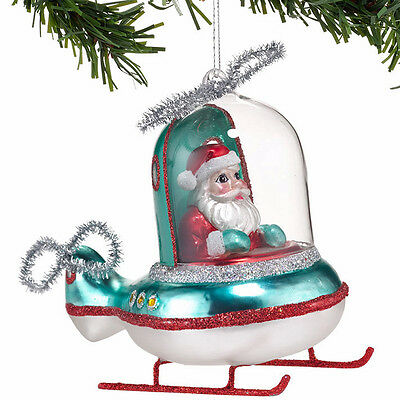 Santa Flying Helicopter Ornament Department 56 4032908