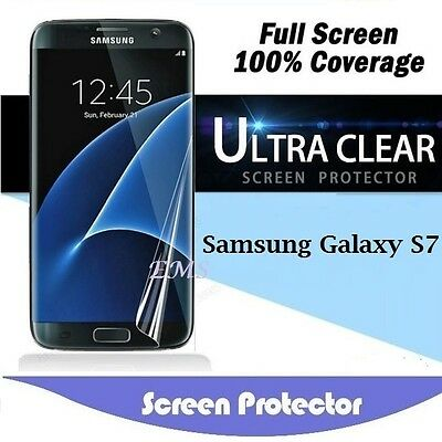5x Ultra Clear FULL COVERAGE Screen Protector Film Guard For Samsung Galaxy S7