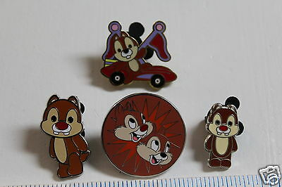 WDW Disney lot of 4  Chip & Dale Pins