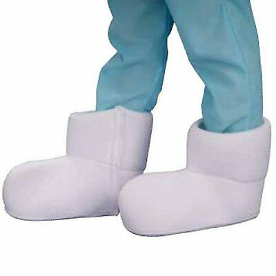 Adult White Cartoon TV Show Movie The Smurfs Costume Accessory Boot Shoe Covers