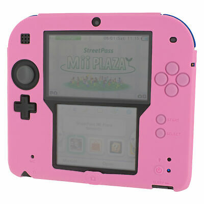 ZedLabz soft silicone gel protective cover bumper case for Nintendo 2DS - Pink