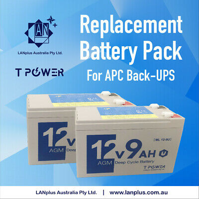 New Battery Replacement Pack 4 APC Back-UPS Pro 900 1200 1500 RBC123 /124 SMT750
