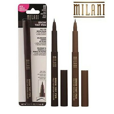 "Milani Felt-Tip Brow Color Tint Pen Natural Taupe or Dark Brown ""Pick any 1"""