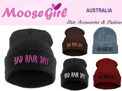 BAD HAIR DAY Plain Colour Beanie Women Teens Winter Warm Knitted Hats Cap