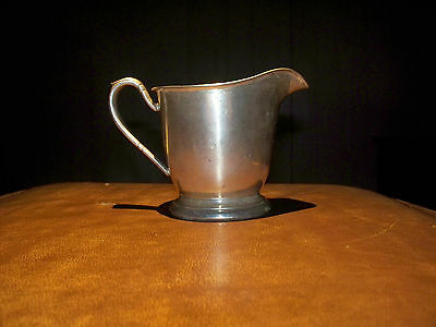 Silver Soldered Plate Creamer Pitcher Victor S Co 4 oz EP-NS RO124
