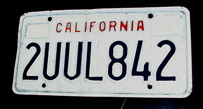 Bachelor's California State Personalized Vanity Automobile License Plate TUUL842