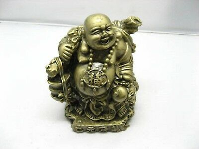 Chinese Bronze Laughing Buddha Statue for Good Fortune 13.8cm High(FS-S107)