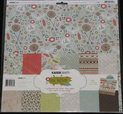 "Kaisercraft 'BOW & ARROW' 12x12"" Paper Pk + Stickers Love KAISER *SPECIAL PRICE*"