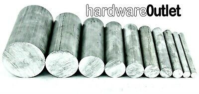 ALUMINIUM ROUND BAR 6.0 mm - 50.0 mm  & 11 Pre Cut Sizes & 8 Pre Cut Lengths