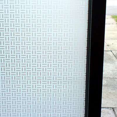 FROSTED PRIVACY WINDOW FILM - WHITE PATTERNED DECORATIVE - 90cm x 1m Roll WT011