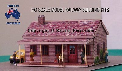 HO Scale House with Optional Rebate Doors Windows Railway Building Kit - REHV3