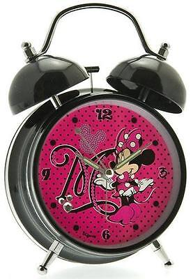 Minnie Mouse: Minnie Mouse Twin Bell Alarm Clock - New & Official Disney In Box
