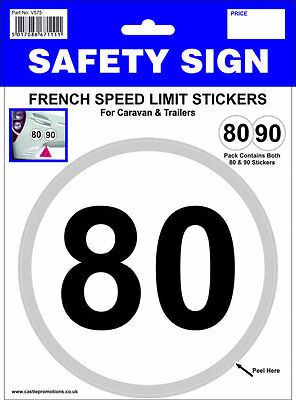 French Speed Limit Sticker 80kph 90kph For Travel Abroad