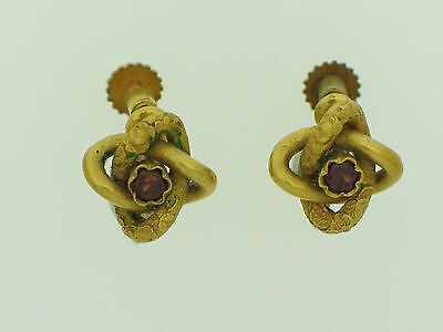Antike Ohrringe mit Granat   Antic goldearrings with garnets