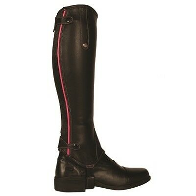 Mark Todd Soft Leather Gaiters with contrasting Patent Piping  RRP £69.95 SALE