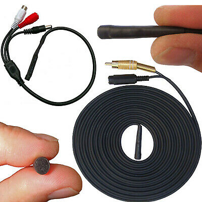 Waterproof Cctv Dvr Microphone + Cable For Outdoor Camera Sound Audio Recording