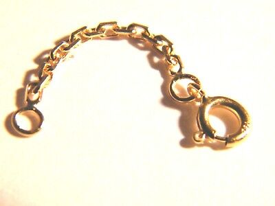18ct Yellow Gold Short Safety Chain w/Bolt Ring-Findings-18K Jewellery Making