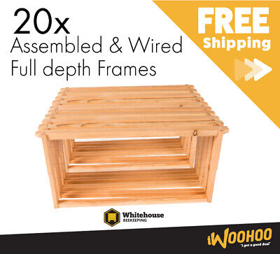 20x Beehive Frames (ASSEMBLED) Full Depth A Grade Pine / Whitehouse Beekeeping