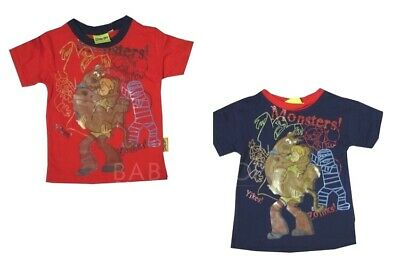 Scooby Doo Monsters Cotton Boys Tshirt Top Ages 2-8 Years Choice of Colours
