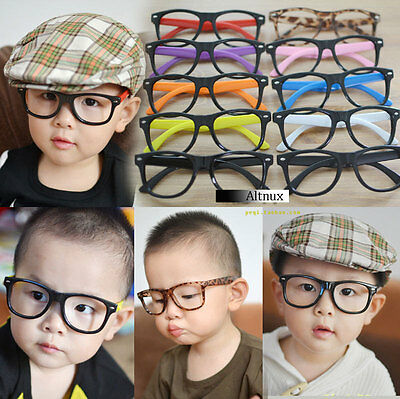 Children Kids Girls Trendy Glasses Frame No Lens Vintage Fashion Retro Trendy