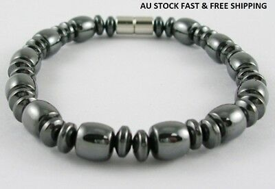 Black Magnetic Hematite Bracelet for Arthritic Pain and Blood Pressure (IMB008)