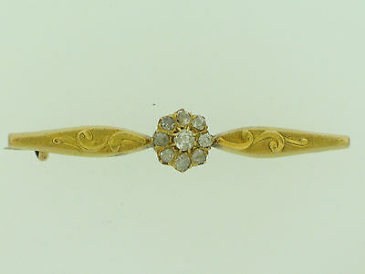 Antike Stabbrosche mit Altschliffbrillanten     antic brooch with diamonds