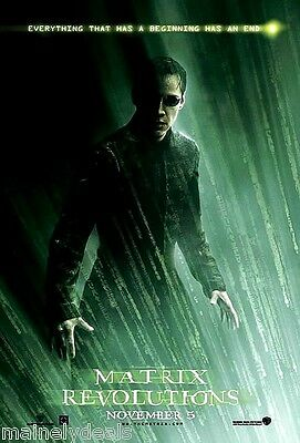 MATRIX REVOLUTIONS Original Double Sided 27x40 DS Movie Poster NEO