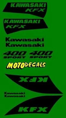 KFX400 Plastics Fender Graphics Decal Sticker Kit For KFX 400 Tank Emblems