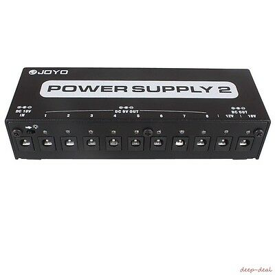 Joyo JP-02 10 Isolated Outputs 9V / 12V / 18V Guitar Effect Pedal Power Supply