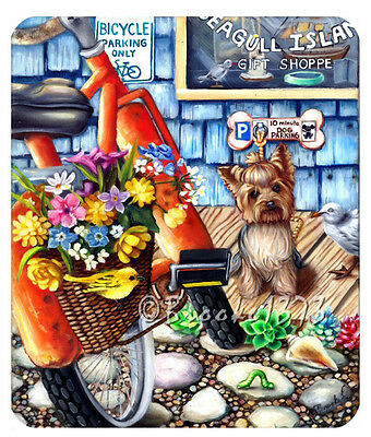 Yorkshire Terrier Yorkie dog ART mouse pad Gift Shoppe puppy bike flowers