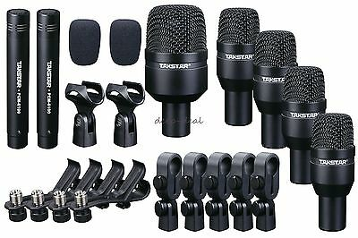 Takstar DMS-D7  7 Piece Microphones Wired Drum Kit w/Mounting Accesories+Case