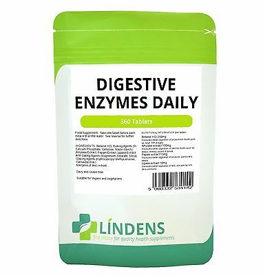 Digestive Enzymes Daily with Betaine HCl - 360 Tablets
