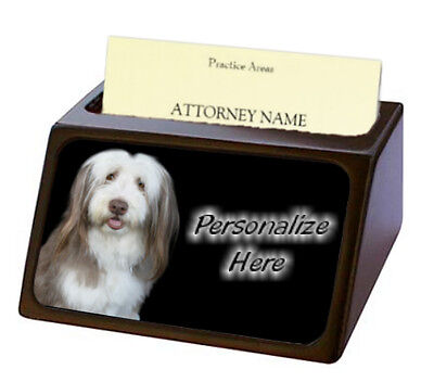 Bearded Collie  Pet Breed  Personalized Business Card Holder