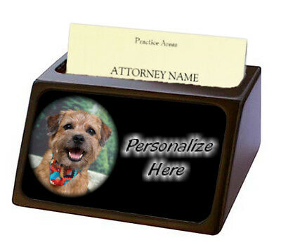 Border Terrier ( 1 )  Pet Breed  Personalized Business Card Holder