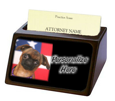 Brussels Griffon smooth ( 1 )  Pet Breed  Personalized Business Card Holder